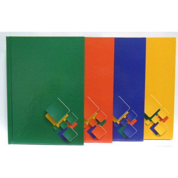 Regiszteres füzet A/5 keményfedeles egyszínű
