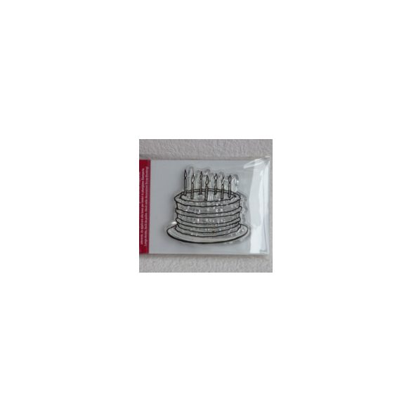 Akril pecsételő, torta, 5×7 cm