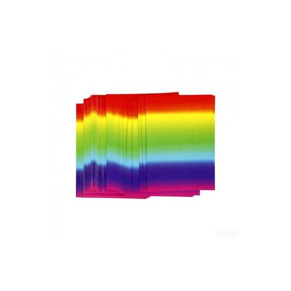 Karton, kétoldalas, A/4 szivárvány színű, db. ár