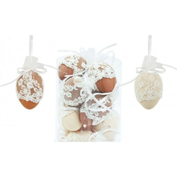 Húsvéti tojás, csipkés, vegyes szín, db. ár