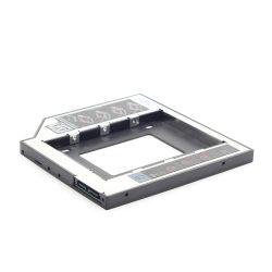 Adapter Beépítő keret HDD/SSD 2,5 Gembird 12mm CD/DVD foglalatba.