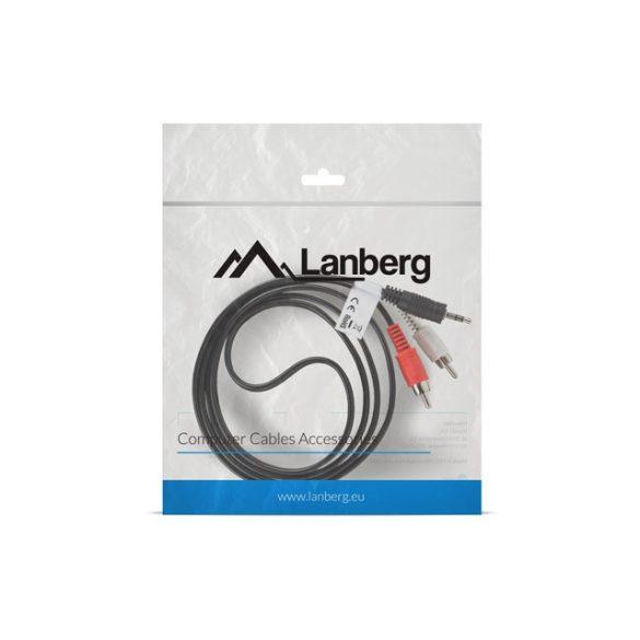 Kábel Jack-2xRCA 1,5m Lanberg