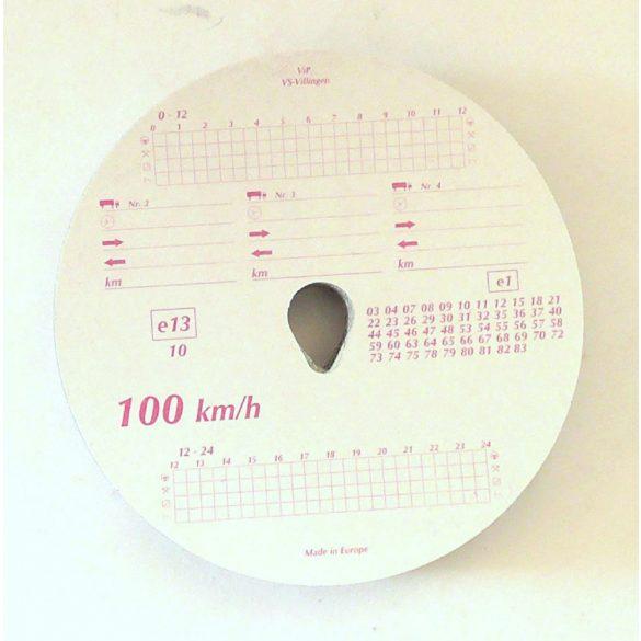 Tachograf korong 100km/h