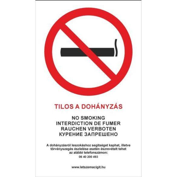 Matrica Tilos a dohányzás! A/4