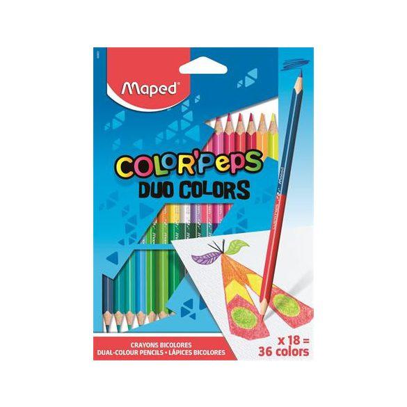 Színesceruza Maped Color Peps Duo kétvégű 18=36 háromszögletű
