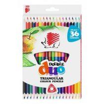 ICO Duo kétvégű színes ceruza készlet - (18db