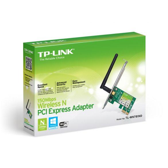 Hálózati kártya TP-Link (TL-WN781ND) 150Mbps WiFi (PCI-E)