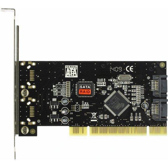 Hálózat Bővítőkártya Raid Sata 2channel  PCI