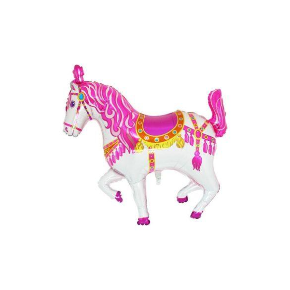 Fólia lufi, pink cirkuszi ló - kb. 80 cm