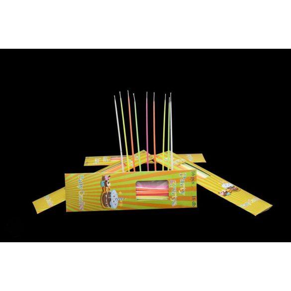 Színes, 16 db-os 18 cm-es gyertyacsomag