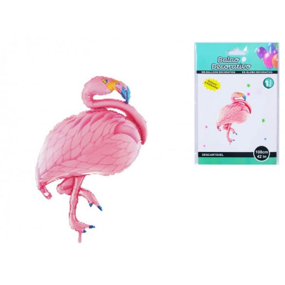 Fólia lufi, flamingó, 108 cm