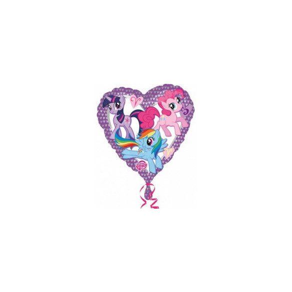 Fólia lufi, little pony szív alakú, 43 cm
