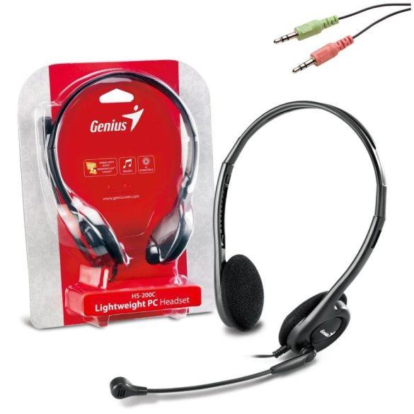 Audio Fejhallgató Genius HS-200C