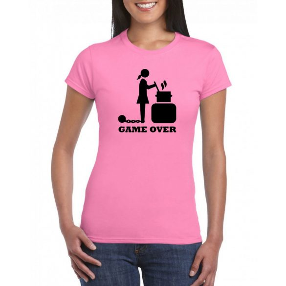 """Női póló """"Game over""""  M-es"""