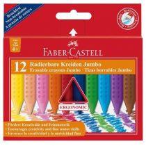 Zsírkréta Faber Castell Grip Jumbo radírozható - 12 darabos