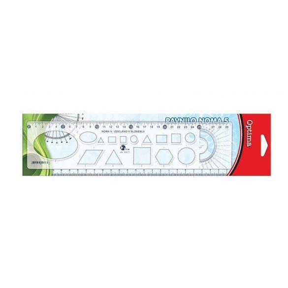 Sablon vonalzó OPTIMA - 30cm