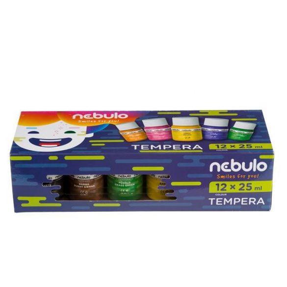 Nebulo tégelyes tempera - 12db x 25ml