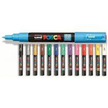 Posca toll - 1M, 0,7 mm vegyes szín