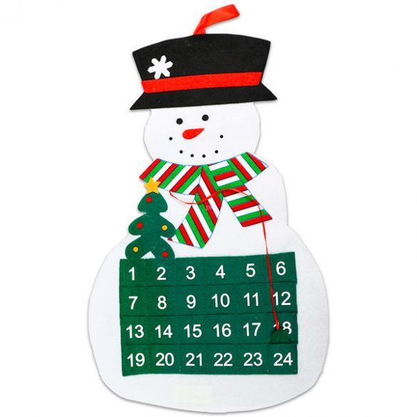 Adventi naptár, hóemberes és mikulásos