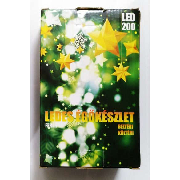 Karácsonyi LED égősor bel és kültéri 200db Fehér vagy Színes