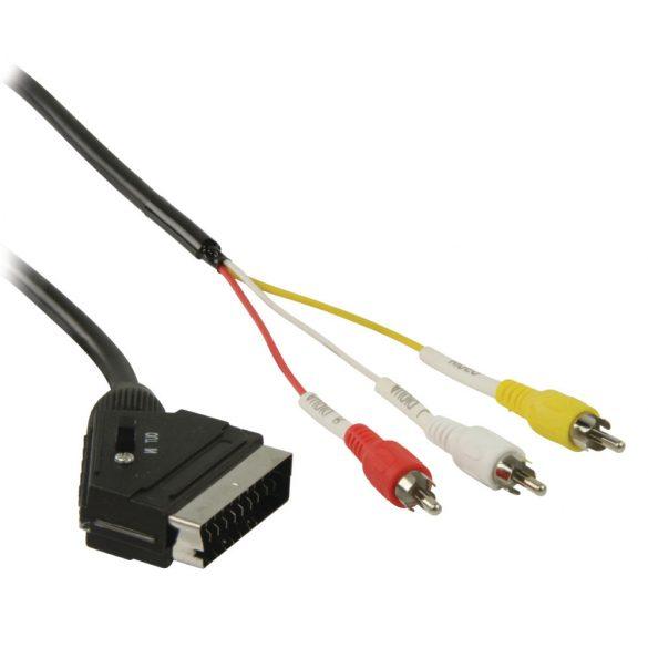 Kábel NEDIS Scart - 3xRCA (2m)