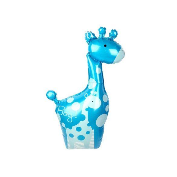Fólia lufi, zsiráf forma - 98 cm (kék vagy rózsaszín)