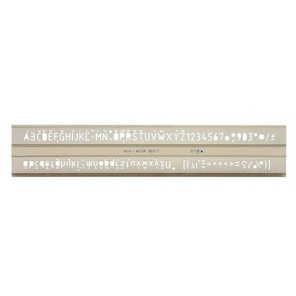 Betűsablon - 7mm betűkkel