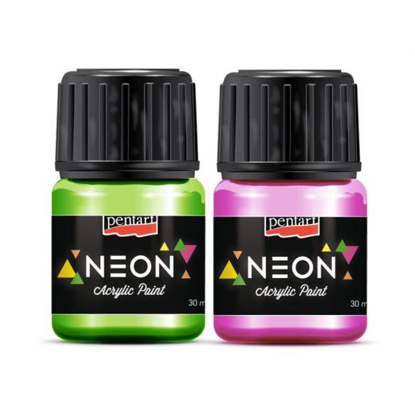 Akrilfesték NEON 30 ml Több színben