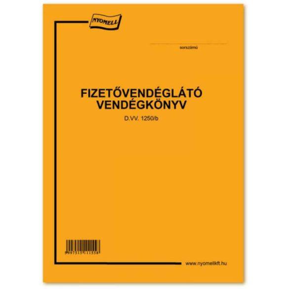 Fizetővendéglátó vendégkönyv