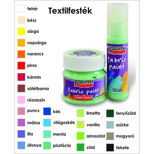 Textilfesték FabricPaint 20 ml Több színben