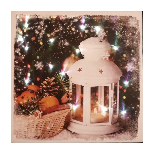 Ledes kép 40×40 cm, karácsonyfa vagy lámpás