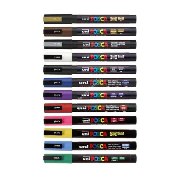 Posca toll UNI PC-3M (1.3mm)  - Több színben