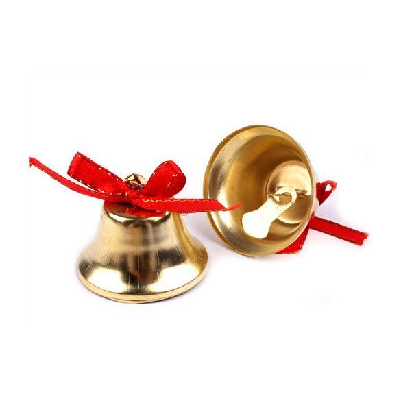 Csengő arany színben, piros masnival db. ár