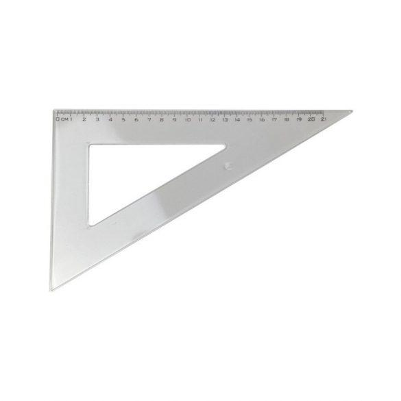 Vonalzó háromszög alakú - 60 fokos, 23cm