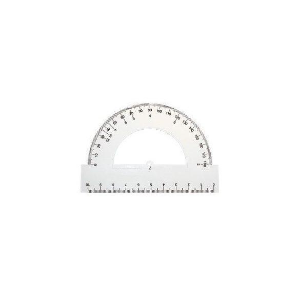 Szögmérő - 180 fok műanyag