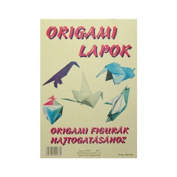 Origami papír 20×20 cm -100 lap/csomag