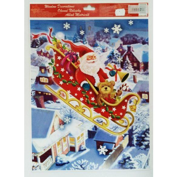 Karácsonyi és Mikulásos ablakmatrica Több típus