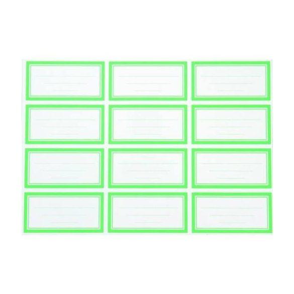 Füzetcímke egyszínű (12db-os) - Több színben