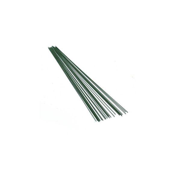 Virágkötöző zöld drót, 10 db/csomag