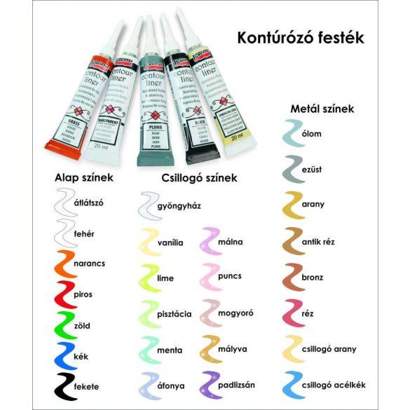 Kontúrozó festék KontourLiner 20ml Több színben