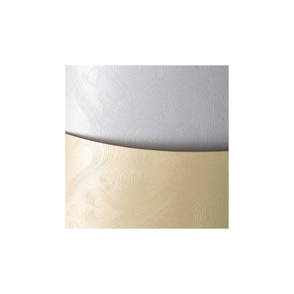 Karton A4  Szívmintás fehér