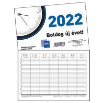 Asztali naptár félórás beosztású 2021