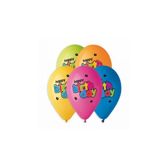 """Gumi lufi """"Boldog szülinapot"""" felirattal I 30 cm-es - Héliummal tölthető"""