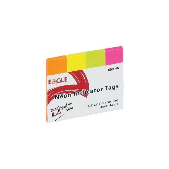 Oldaljelölő EAGLE 659-4N - Papír (Neon színekkel)
