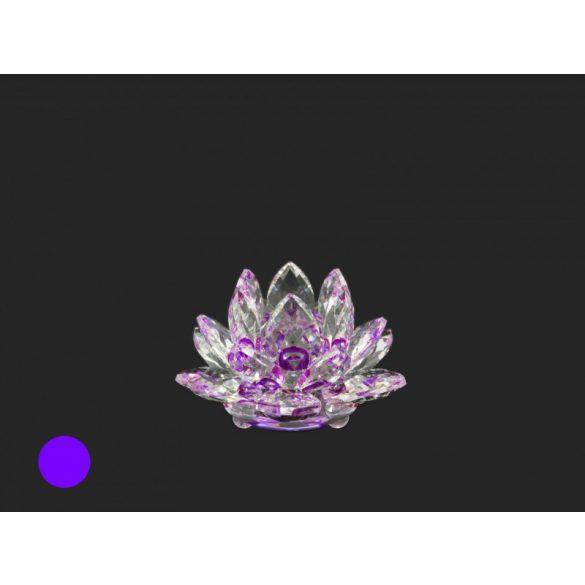 Lótusz kristály, 8,5×5 cm