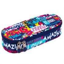 Tolltartó ovális kialakítással, bedobálós és gumis résszel - Többféle mintával