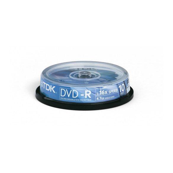 Lemez DVD+R TDK 10db / henger