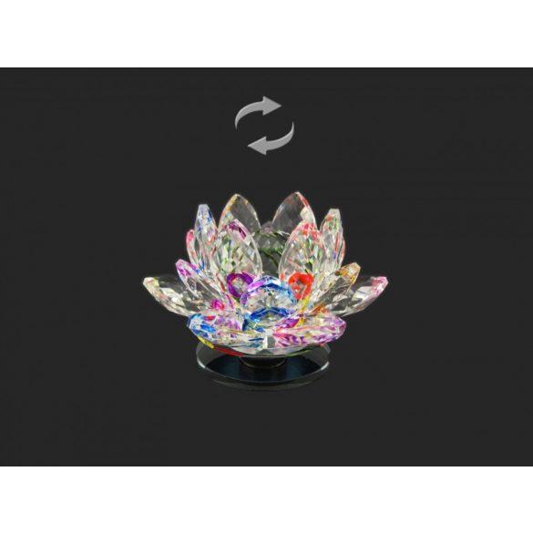 Lótusz kristály forgó 10x6,5cm