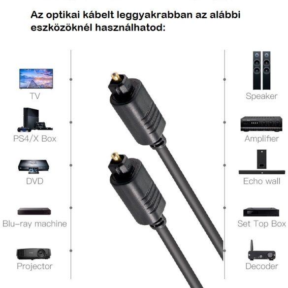 Kábel Toslink Optikai Audió kábel (2m)