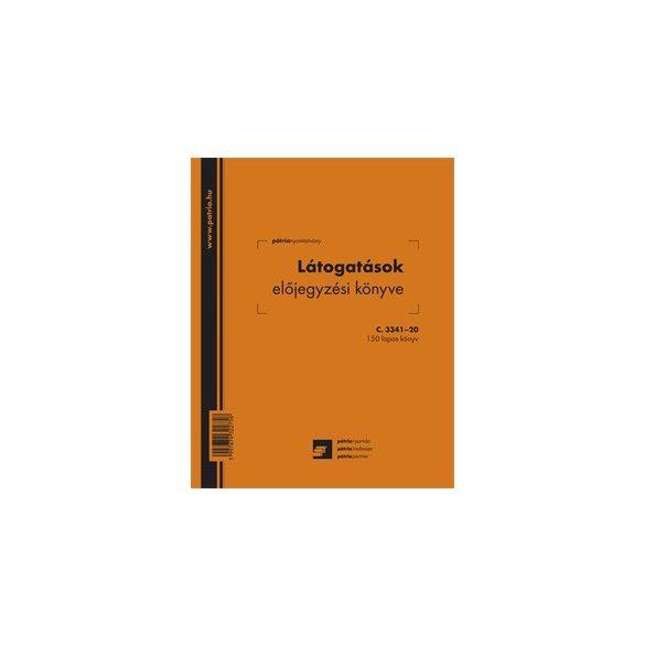 Látogatásokat előjegyző könyv - 150lapos (206x173mm) C.3341-20